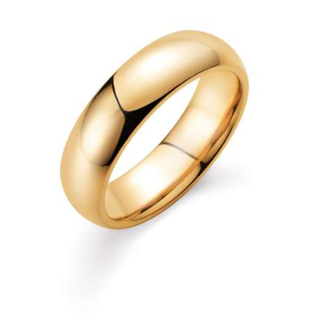 Herrenring Classic 6mm in 14K Gelbgold poliert