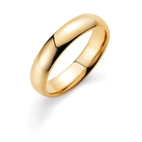 Herrenring Classic 5mm in 14K Gelbgold poliert