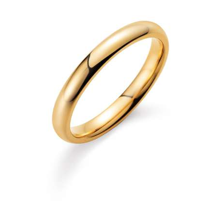 Herrenring Classic 3mm in 18K Gelbgold poliert