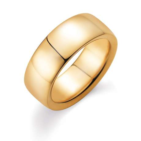 Herrenring Modern 8mm in 14K Gelbgold poliert