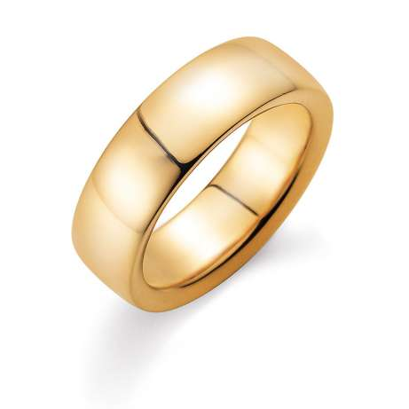 Herrenring Modern 7mm in 18K Gelbgold poliert