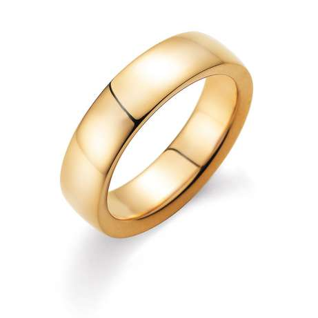 Herrenring Modern 6mm in 14K Gelbgold poliert