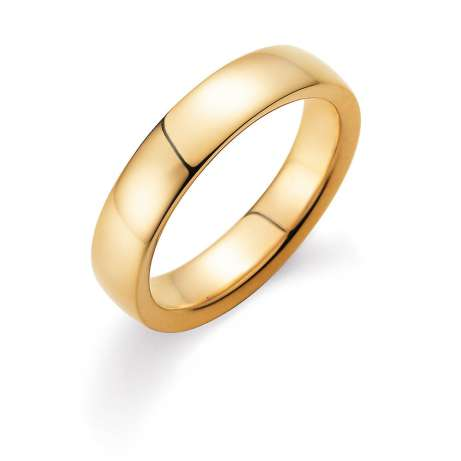 Herrenring Modern 5mm in 18K Gelbgold poliert