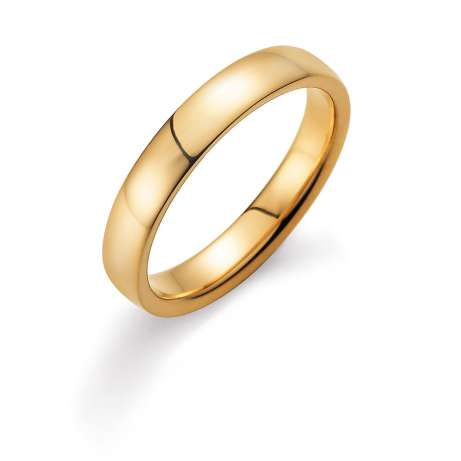 Herrenring Modern 4mm in 14K Gelbgold poliert