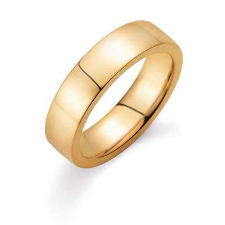 Herrenring Infinity 6mm in 18K Gelbgold poliert