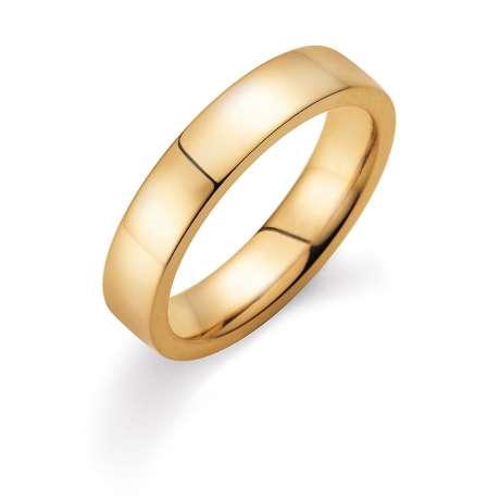 Herrenring Infinity 5mm<br />18K Gelbgold poliert