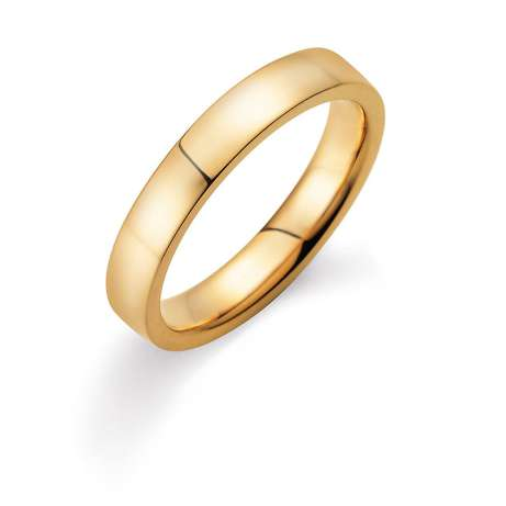 Herrenring Infinity 4mm in 18K Gelbgold poliert