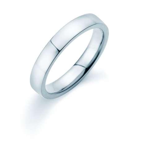 Herrenring Infinity 4mm<br />Platin poliert