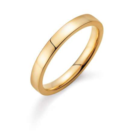 Herrenring Infinity 3mm in 14K Gelbgold poliert