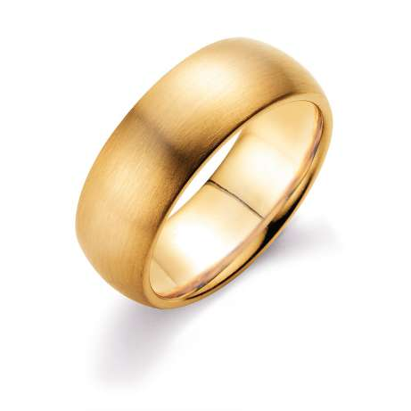 Herrenring Classic 8mm<br />14K Gelbgold matt