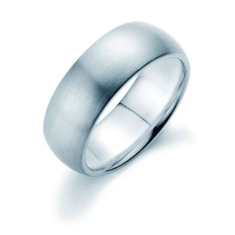 Herrenring Classic 8mm<br />Platin matt