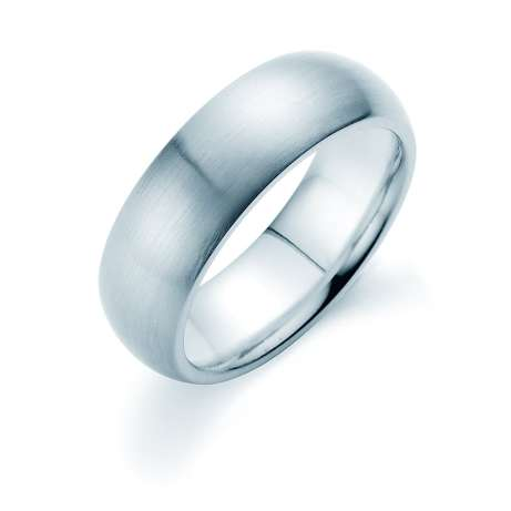 Herrenring Classic 7mm<br />Platin matt