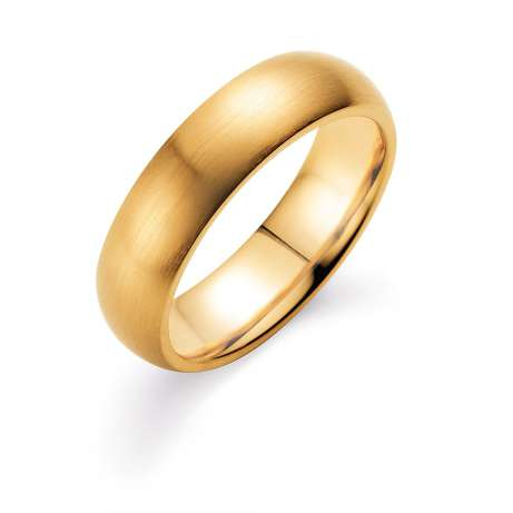 Herrenring Classic 6mm<br />14K Gelbgold matt