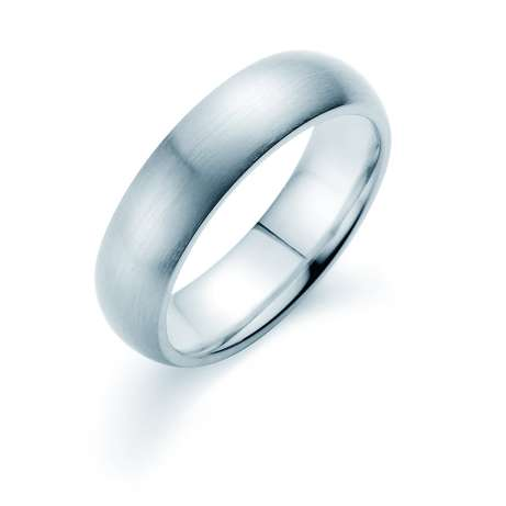 Herrenring Classic 6mm<br />Platin matt