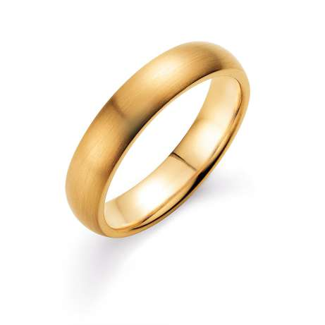 Herrenring Classic 5mm<br />14K Gelbgold matt