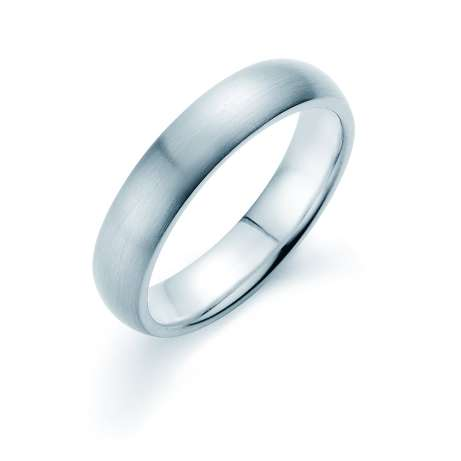 Herrenring Classic 5mm<br />Platin matt