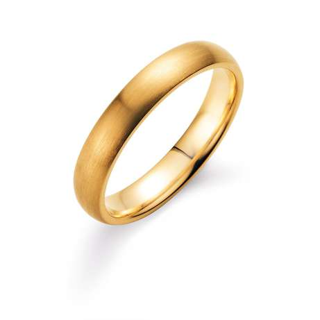 Herrenring Classic 4mm<br />14K Gelbgold matt