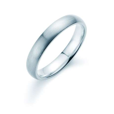 Herrenring Classic 4mm<br />Platin matt