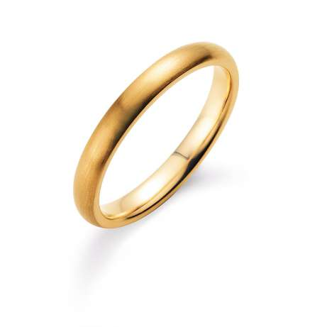 Herrenring Classic 3mm<br />14K Gelbgold matt