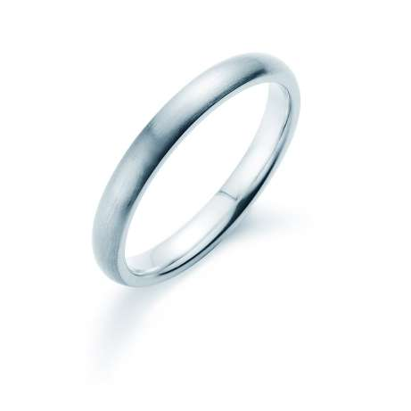 Herrenring Classic 3mm<br />Platin matt
