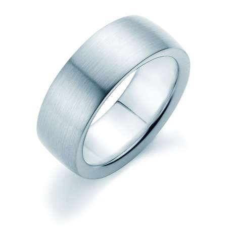 Herrenring Modern 8mm<br />Platin matt