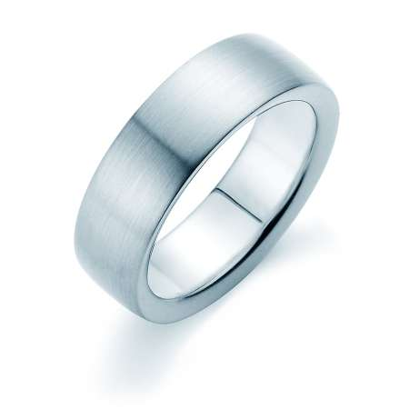 Herrenring Modern 7mm<br />Platin matt