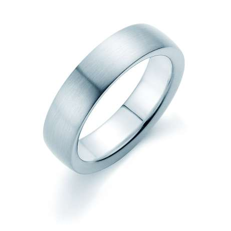 Herrenring Modern 6mm<br />Platin matt