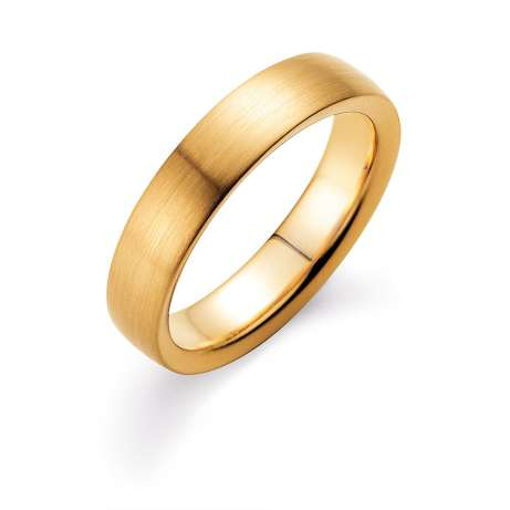 Herrenring Modern 5mm<br />14K Gelbgold matt