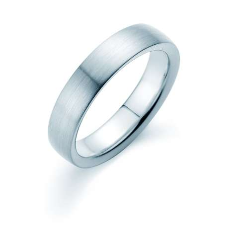 Herrenring Modern 5mm<br />Platin matt