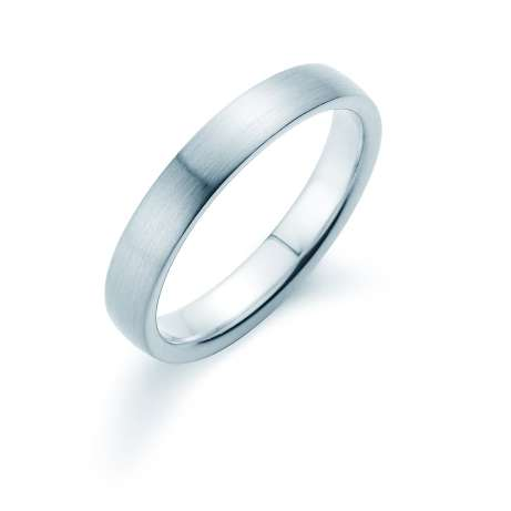 Herrenring Modern 4mm<br />Platin matt