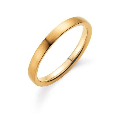 Herrenring Modern 3mm<br />14K Gelbgold matt