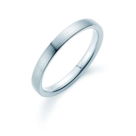Herrenring Modern 3mm<br />Platin matt