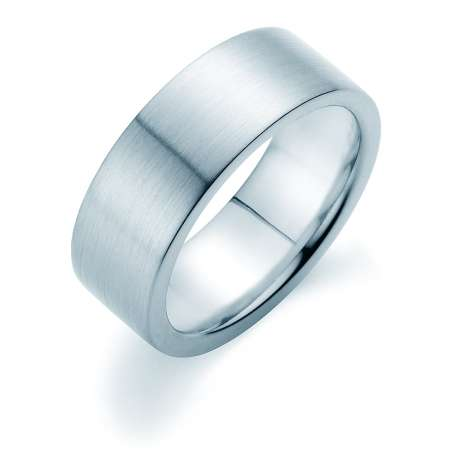 Herrenring Infinity 8mm<br />Platin matt