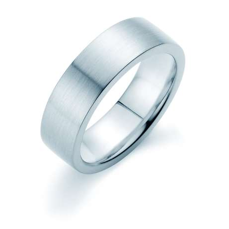 Herrenring Infinity 7mm<br />Platin matt