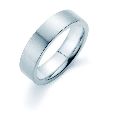 Herrenring Infinity 6mm<br />Platin matt