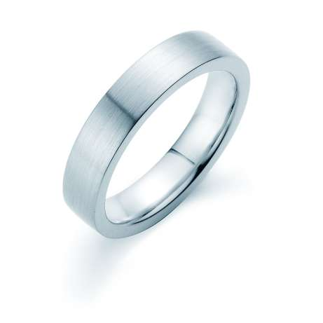 Herrenring Infinity 5mm<br />Platin matt