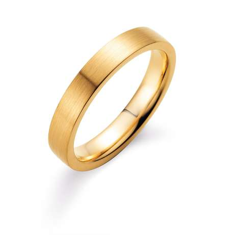 Herrenring Infinity 4mm<br />18K Gelbgold matt