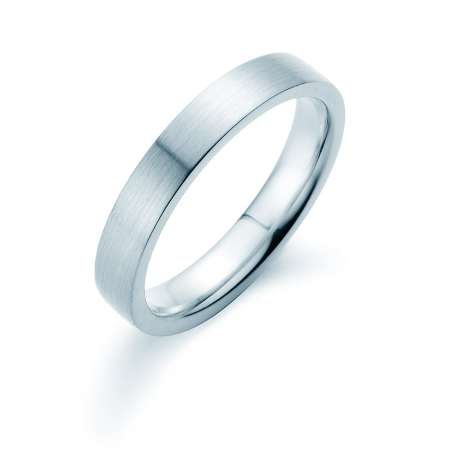 Herrenring Infinity 4mm<br />Platin matt