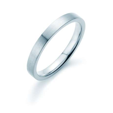 Herrenring Infinity 3mm<br />Platin matt