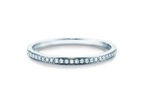 Alliance-/Eternity-Ring<br />14K Weissgold<br />Diamant 0,125ct