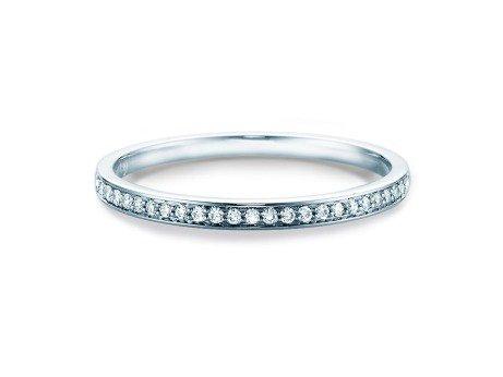 Eternityring<br />14K Weissgold<br />Diamant 0,125ct