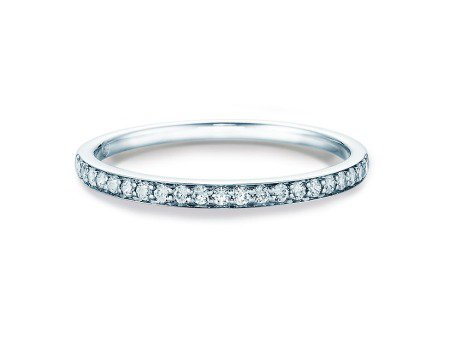 Alliance-/Eternity-Ring in 14K Weissgold mit Diamant 0,21ct