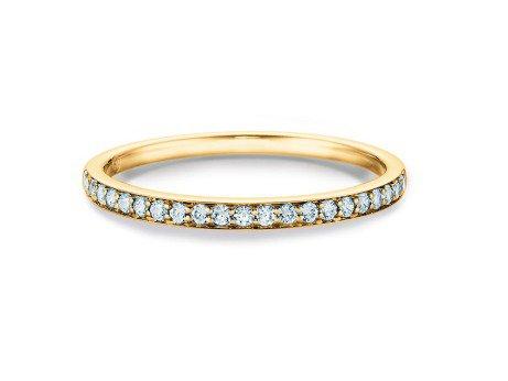 Eternityring<br />14K Gelbgold<br />Diamant 0,21ct