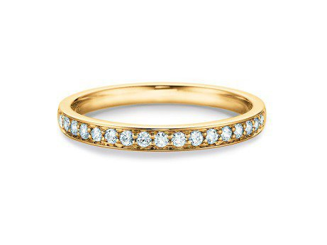 Alliance-/Eternity-Ring<br />14K Gelbgold<br />Diamant 0,255ct