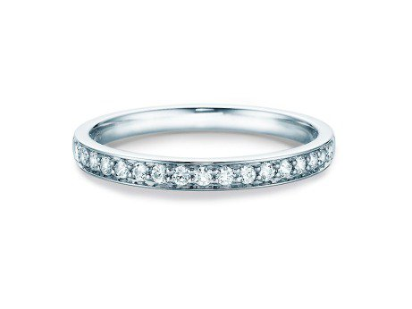 Alliance-/Eternity-Ring<br />14K Weissgold<br />Diamant 0,255ct