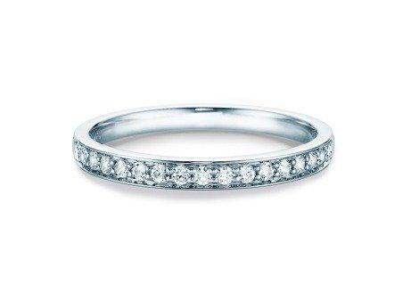 Eternityring<br />14K Weissgold<br />Diamant 0,255ct