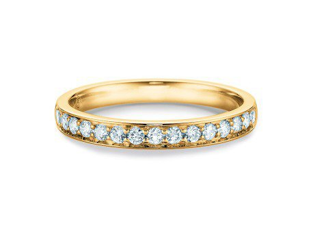Alliance-/Eternity-Ring<br />14K Gelbgold<br />Diamant 0,30ct