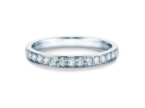 Alliance-/Eternity-Ring<br />14K Weissgold<br />Diamant 0,39ct