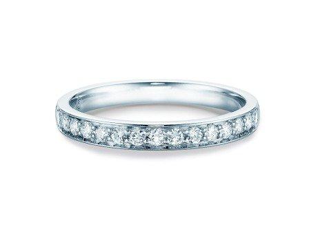 Eternityring<br />14K Weissgold<br />Diamant 0,30ct