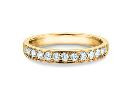 Alliance-/Eternity-Ring in 14K Gelbgold mit Diamant 0,39ct